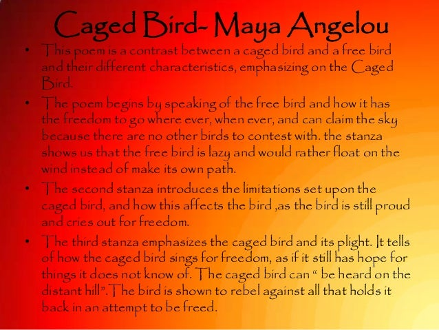 An analysis of the emotions in i know why the caged bird sings by maya angelou