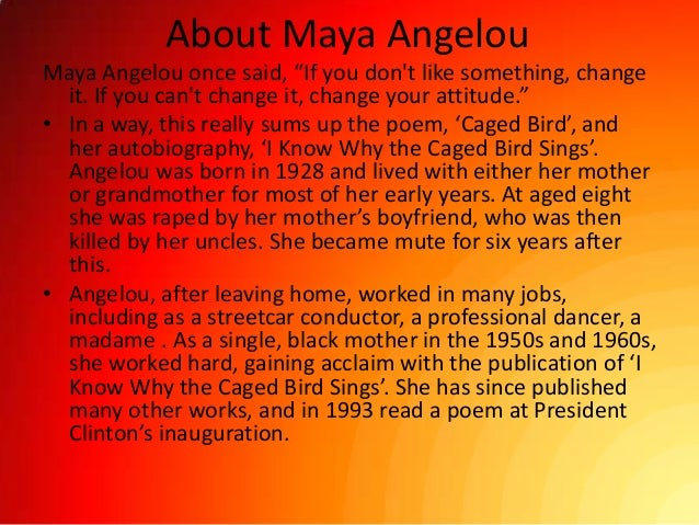 an analysis of maya angelous life depicted in her autobiography i know why the caged bird sings 1 general overview supermarket management help my essay system an analysis of maya angelous life depicted in her autobiography i know why the caged bird sings is the system where all the aspects related to the proper.