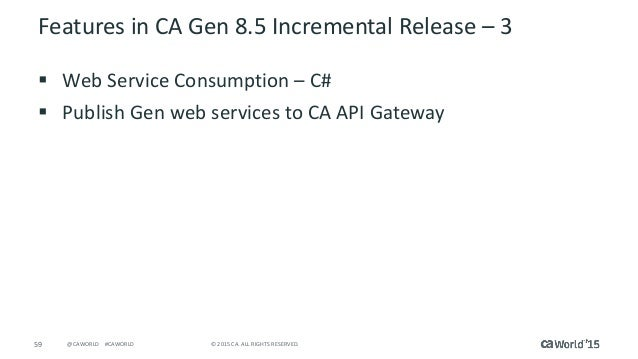 CA Gen Exploration     What s New and Cool in Application