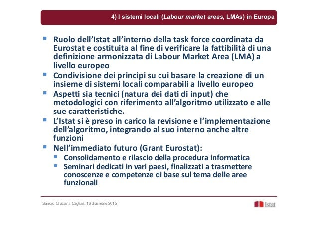 Sandro Cruciani, Cagliari, 16 dicembre 2015 Ruolo dell'Istat all'interno della task force coordinata da Eurostat e costitu...