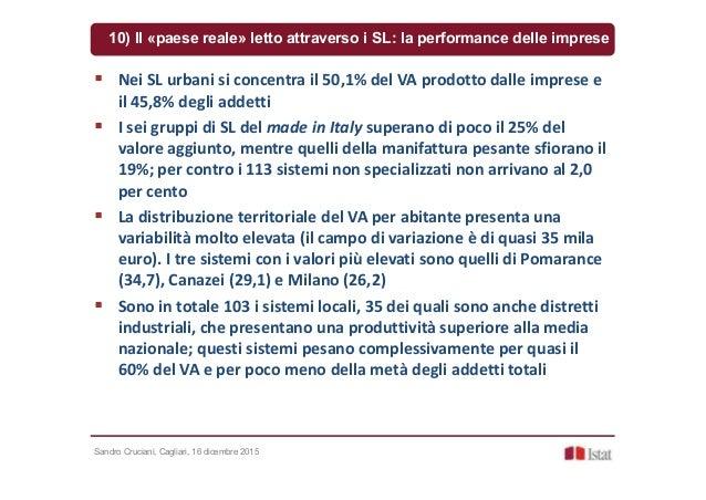 Sandro Cruciani, Cagliari, 16 dicembre 2015 10) Il «paese reale» letto attraverso i SL: la performance delle imprese Nei S...