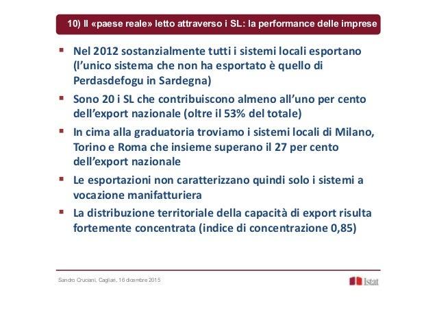 Sandro Cruciani, Cagliari, 16 dicembre 2015 10) Il «paese reale» letto attraverso i SL: la performance delle imprese Nel 2...