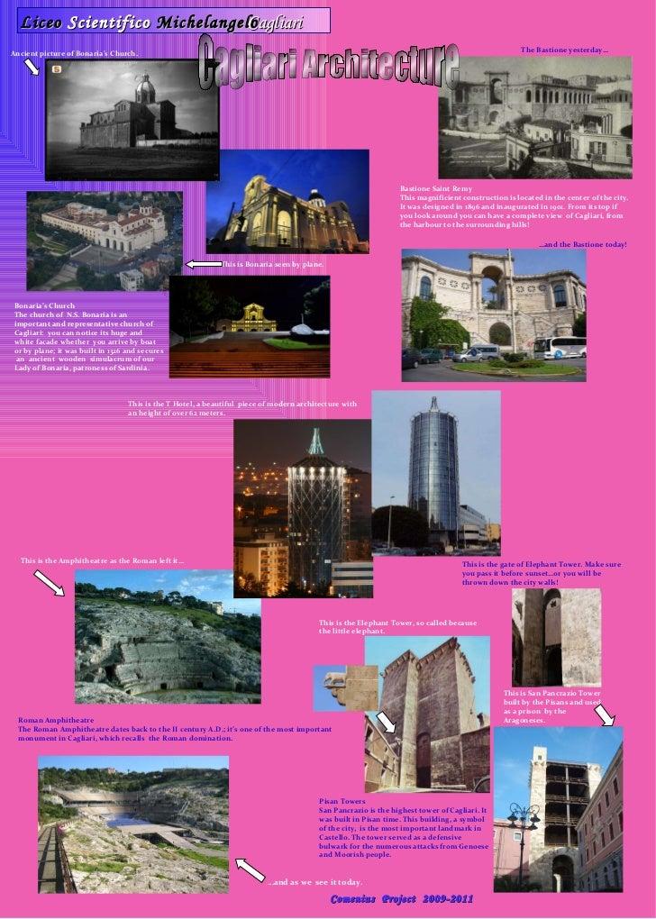 Liceo  Scientifico  Michelangelo Cagliari Architecture Comenius  Project  2009-2011 Bonaria's Church The church of  N.S. B...