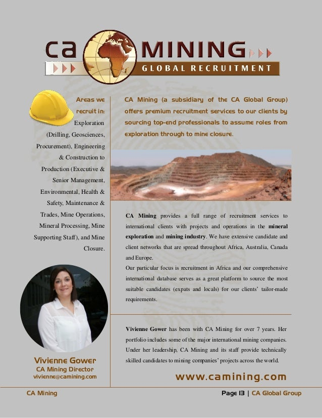 CA Global Africa Jobs in banking finance oil gas engineering mining e…