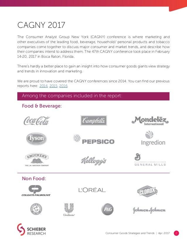 Consumer Goods Strategies & Trends 2017 Report (CAGNY) Slide 2