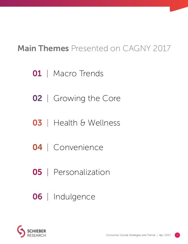 Consumer Goods Strategies & Trends 2017 Report (CAGNY) Slide 3