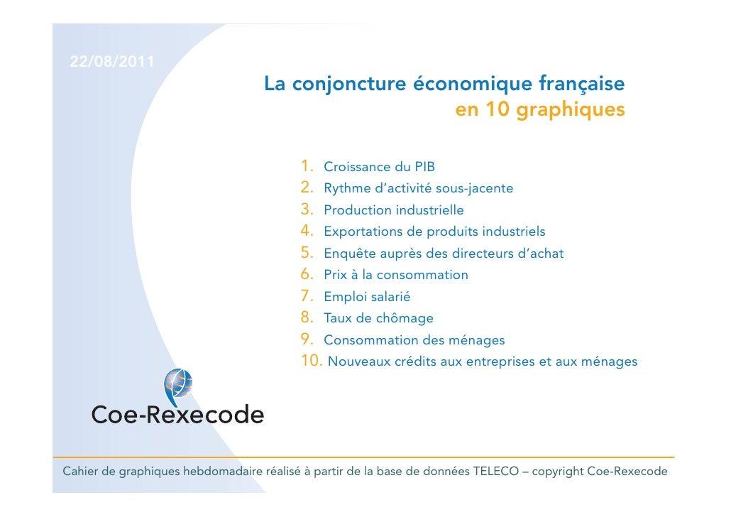 22/08/2011                                  La conjoncture économique française                                           ...