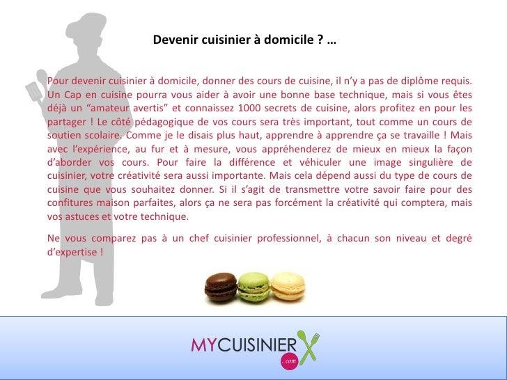 comment devenir cuisinier à domicile ou donner des cours de cuisine ? - Cours De Cuisine A Domicile