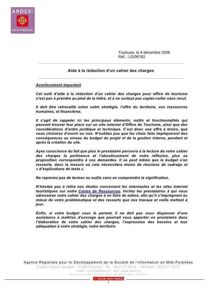 Toulouse, le 4 décembre 2006                                                                           Réf. : LD/06162    ...