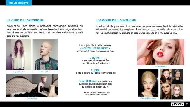 Beauté inclusive 33 LE CHIC DE L'ATYPIQUE Aujourd'hui, des gens auparavant considérés bizarres ou moches sont de nouvelles...