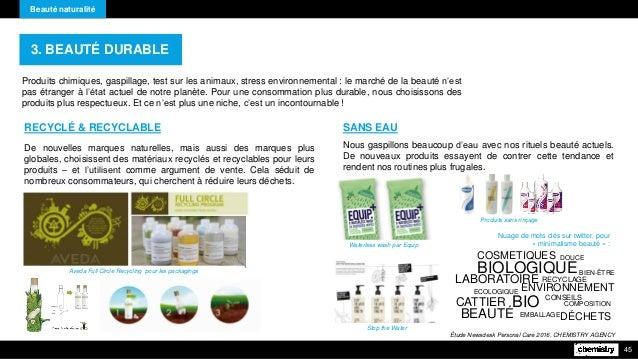 Beauté naturalité 45 Produits chimiques, gaspillage, test sur les animaux, stress environnemental : le marché de la beauté...