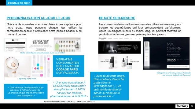 Beauté, à ma façon 64 PERSONNALISATION AU JOUR LE JOUR Grâce à de nouvelles machines, liées à des capteurs pour notre peau...