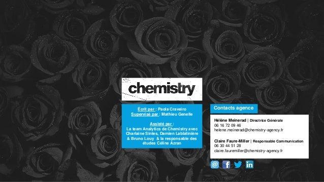 Contacts agence Hélène Meinerad | Directrice Générale 06 16 72 09 46 helene.meinerad@chemistry-agency.fr Claire Faure-Mill...
