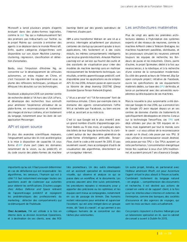 18 — 19 Les cahiers de veille de la Fondation Télécom Microsoft a lancé plusieurs projets d'agents évoluant dans des plat...