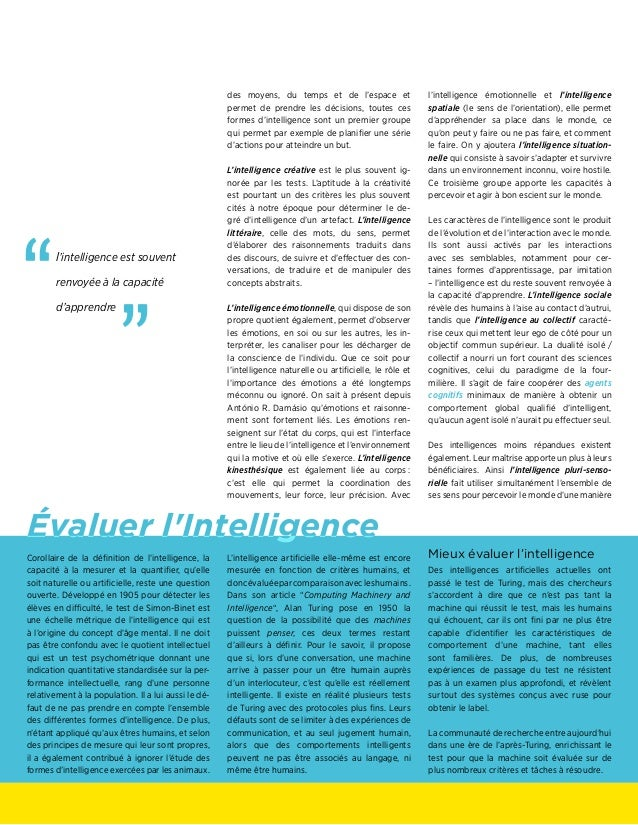 Évaluer l'Intelligence des moyens, du temps et de l'espace et permet de prendre les décisions, toutes ces formes d'intelli...