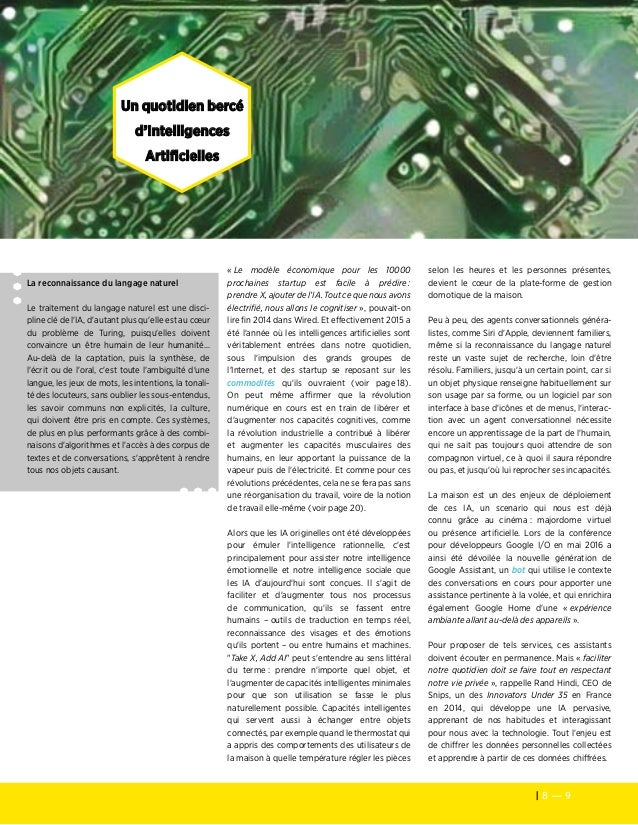 8 — 9 Les cahiers de veille de la Fondation Télécom Un quotidien bercé d'Intelligences Artificielles La reconnaissance du ...