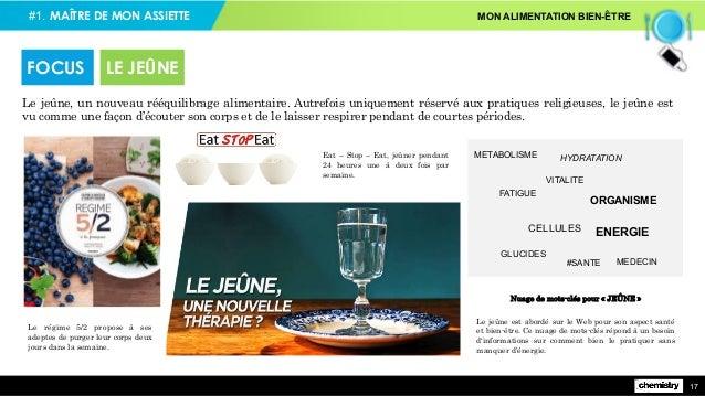 #1. MAÎTRE DE MON ASSIETTE MON ALIMENTATION BIEN-ÊTRE 17 Le jeûne, un nouveau rééquilibrage alimentaire. Autrefois uniquem...