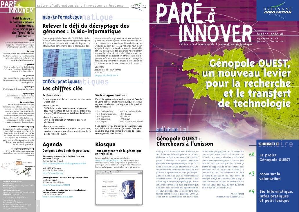 PARÉ à                        INNOVER                          Lettre d'information de l'innovation en bretagne           ...