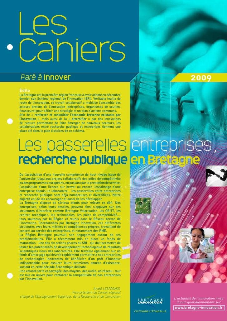 Cahier PAI 2009 : passerelles entreprises/recherche