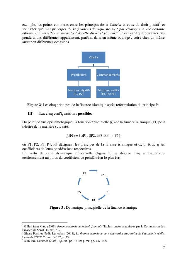 """7 exemple, les points communs entre les principes de la Chari'a et ceux du droit positif3 et souligner que """"les principes ..."""