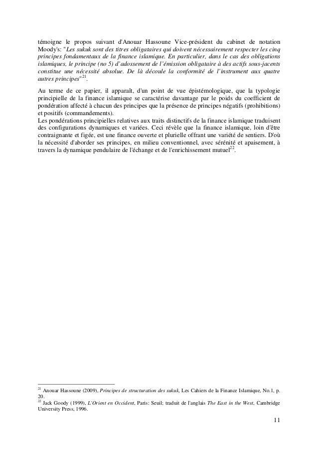 """11 témoigne le propos suivant d'Anouar Hassoune Vice-président du cabinet de notation Moody's: """"Les sukuk sont des titres ..."""