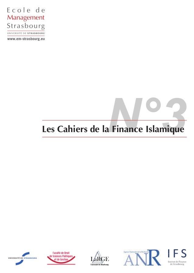 N°3Les Cahiers de la Finance Islamique