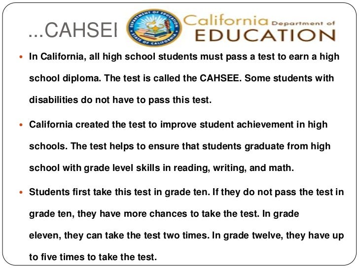 California High School Proficiency Exam