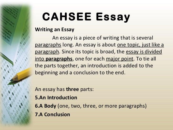 Cahsee essay examples