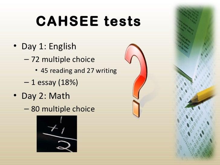 CAHSEE California High School Exit Exam - John Muir High School