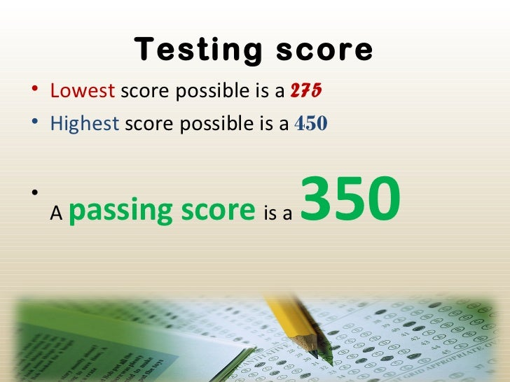 Passing score for cahsee essay