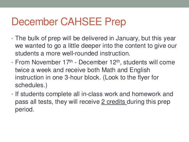 cahsee prep essay questions Test and improve your knowledge of types of essays on the cahsee with fun multiple choice exams you can take online with studycom.