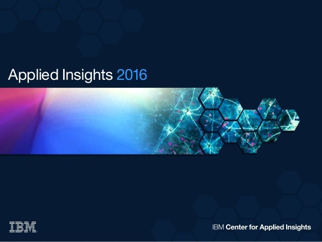 Applied Insights 2016