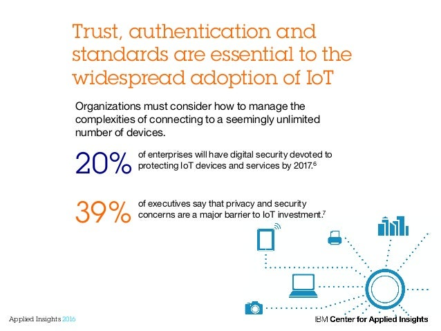 Trust, authentication and standards are essential to the widespread adoption of IoT of enterprises will have digital secur...