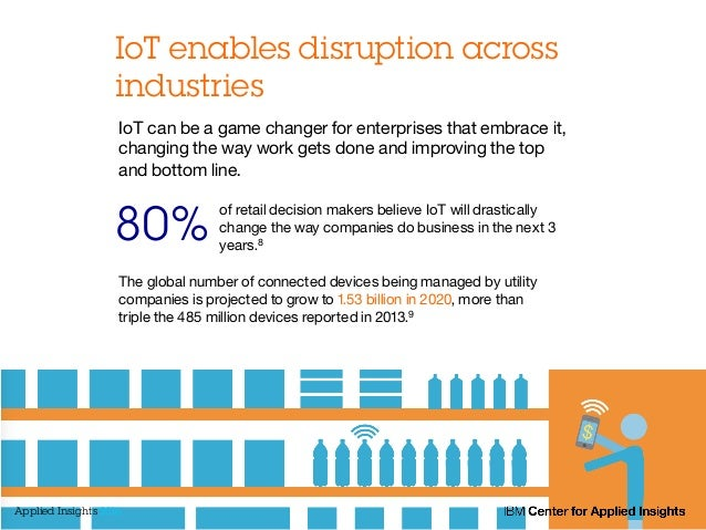 IoT enables disruption across industries of retail decision makers believe IoT will drastically change the way companies d...