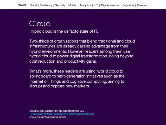 Hybrid cloud is the de facto state of IT.   Two-thirds of organizations that blend traditional and cloud infrastructures a...