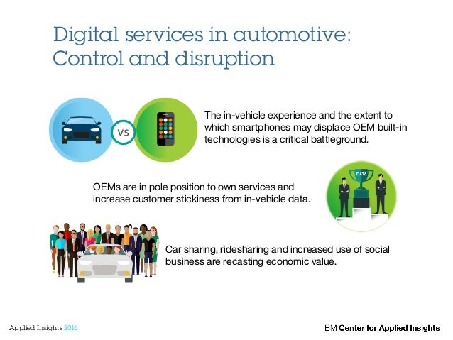 Digital services in automotive: Control and disruption The in-vehicle experience and the extent to which smartphones may d...