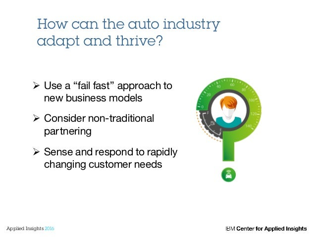 """Ø Use a """"fail fast"""" approach to new business models Ø Consider non-traditional partnering Ø Sense and respond to rap..."""