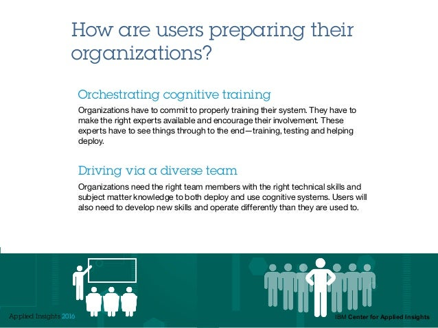 How are users preparing their organizations? Orchestrating cognitive training Organizations have to commit to properly tra...