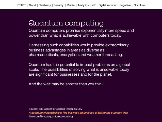 Quantum computers promise exponentially more speed and power than what is achievable with computers today.  Harnessing suc...