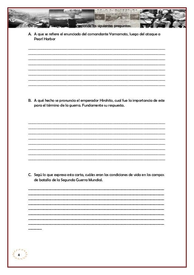 De acuerdo a los documentos responde las siguientes preguntas: A. A que se refiere el enunciado del comandante Yamamoto, l...