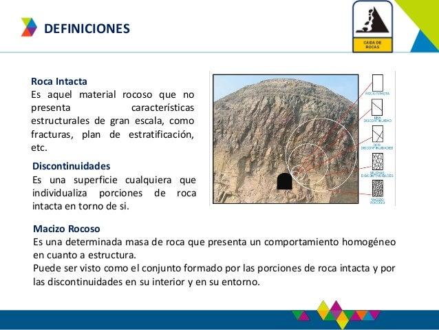 Caida de rocas for Roca definicion