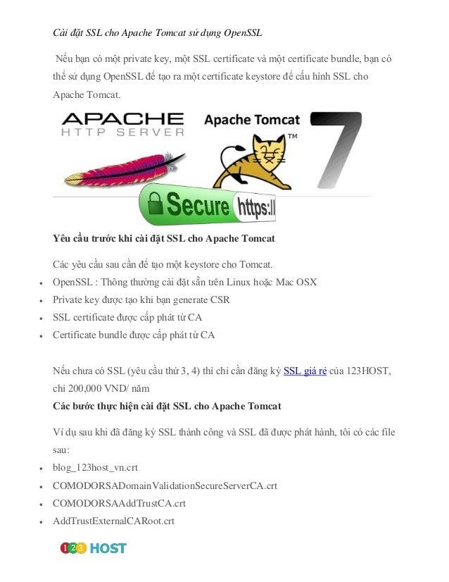 Ci T Ssl Cho Apache Tomcat S Dng Openssl