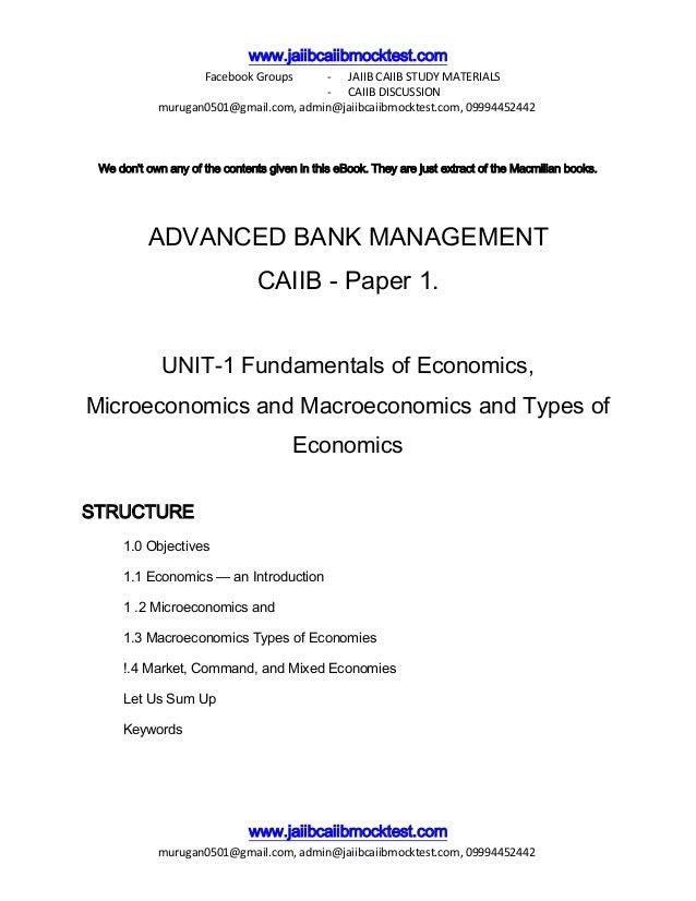 CAIIB- Advance Bank Management Module B: Business ...