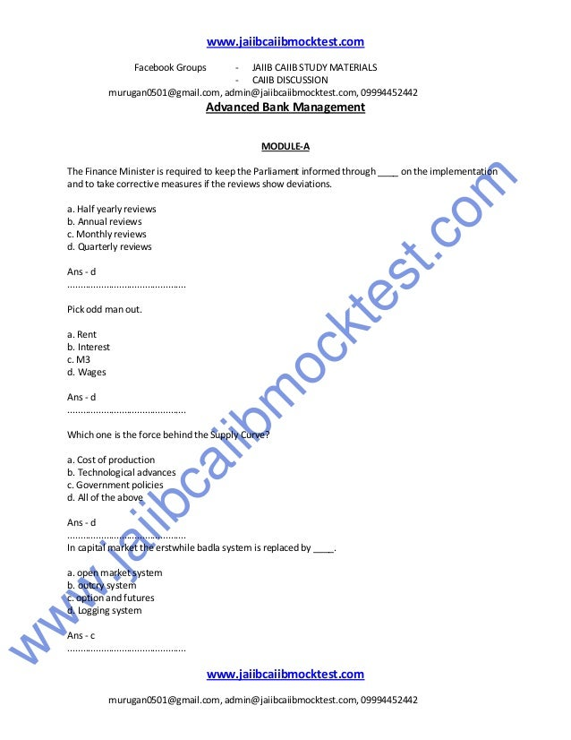 Question papers pdf jaiib