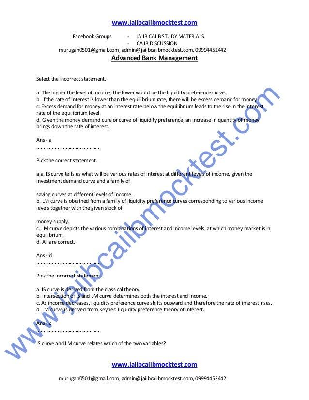 Caiib abm sample questions by murugan Slide 3