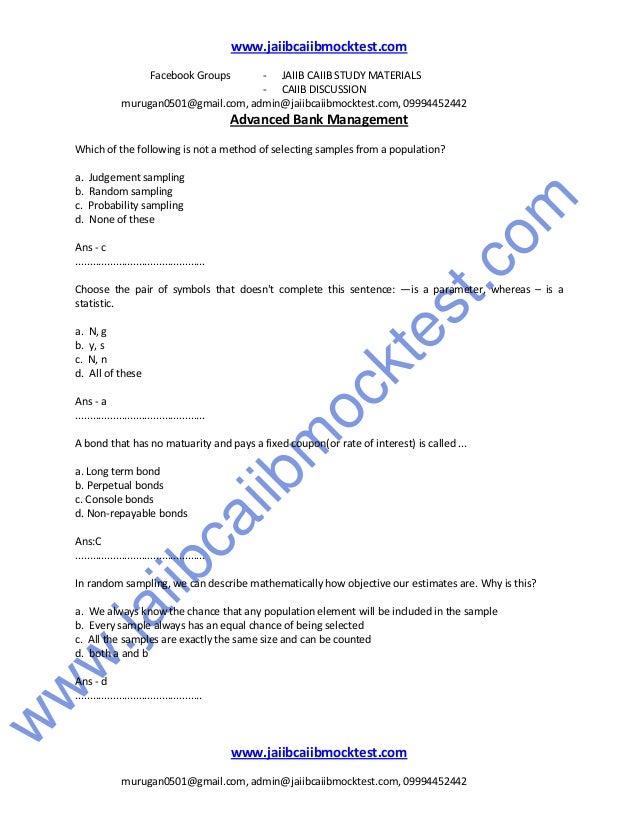 Jaiib study materials download