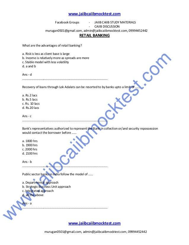 Caiib Retail Banking Book Pdf