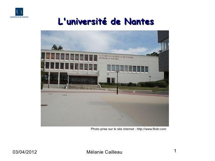 Présentation de l'Université de Nantes
