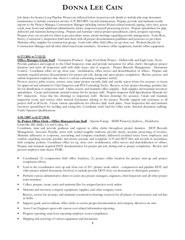 stunning oil and gas project manager resume gallery simple