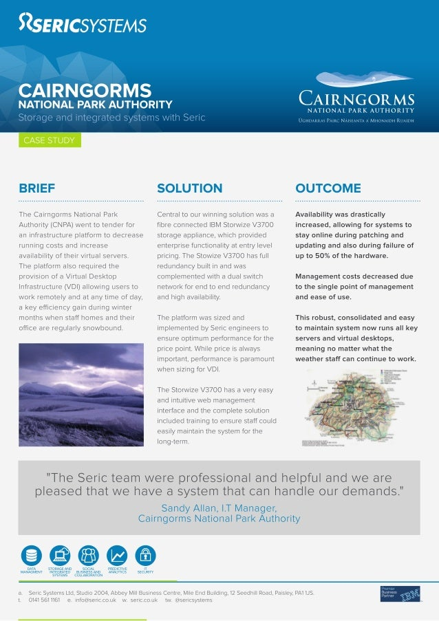 Seric case study Cairngorms national park authority Storage and VDI